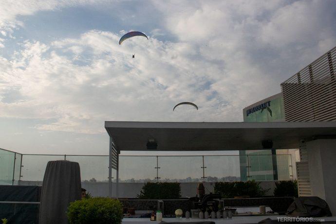 Terraço do hotel em Miraflores, Lima