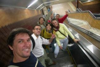 Correria no metro