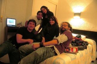 Os 5 de Barcelona no hotel