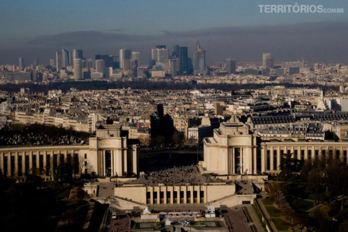La Défense ao fundo, vista da Torre Eiffel