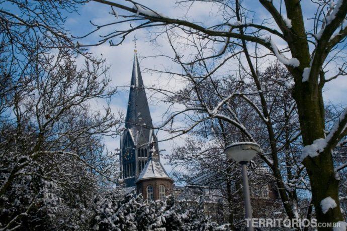 Vondelpark coberto de neve