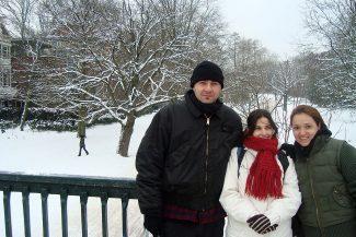 Lorea, eu e Ane no Voldenpark