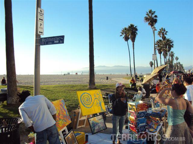 Feira de rua em Venice Beach