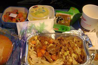 Comida no avião