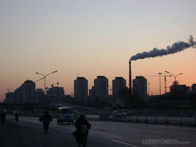 Amanhecer na chegada em Pequim