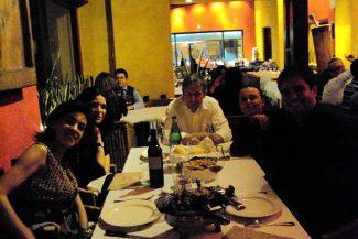 Com Marlene no restaurante Don Juan