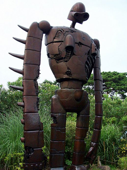 Robô guardião noMuseu Ghibbli