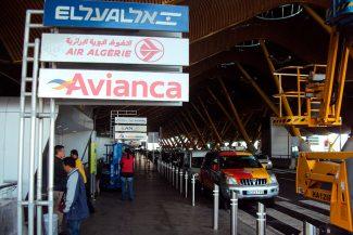 Desembarque no aeroporto de Barajas, Madri