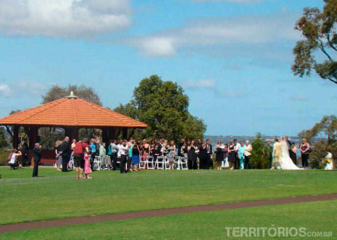 Casamento no parque