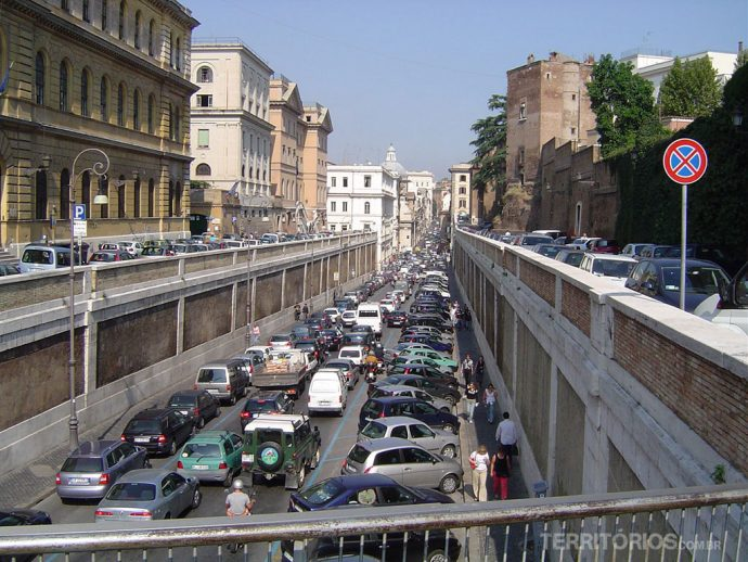 Trânsito caótico