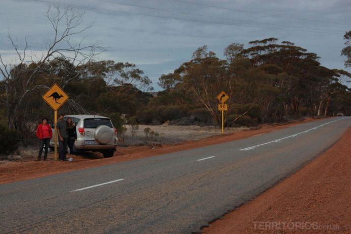 Nas estradas da Western Australia