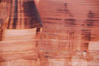 Textura das paredes do Kings Canyon - Outback, Austrália