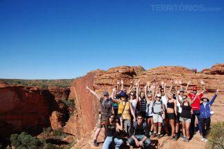Grupo completo na excursão ao Outback