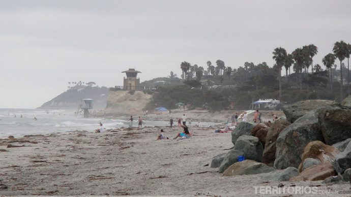 Praia em La Jolla