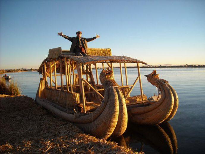 Zeno Kochhan no lago Titicaca