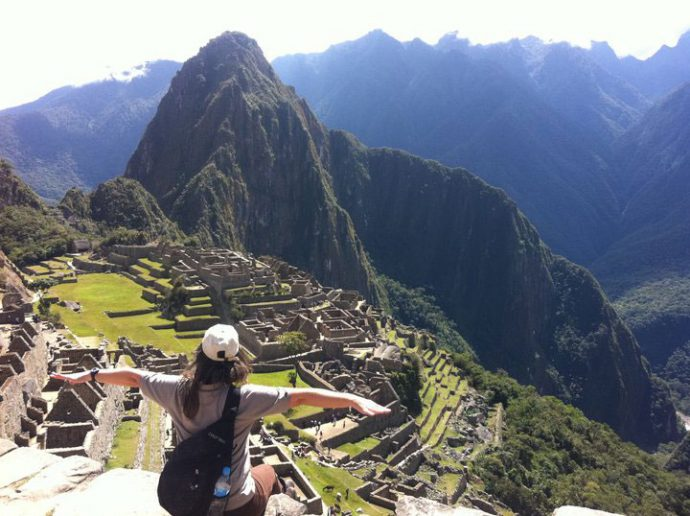 Cristiane Ribeiro em Macchu Picchu
