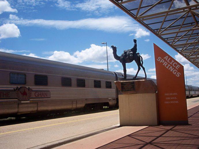 Estação de trem em Alice Springs