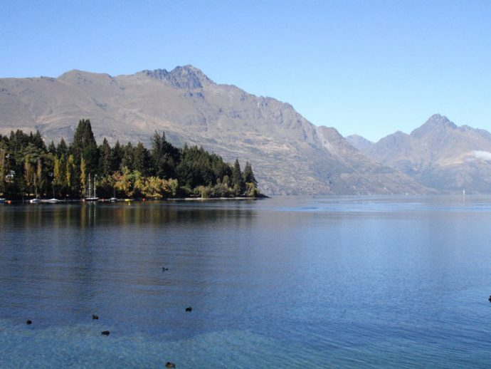 Margens do lago Wakatipu