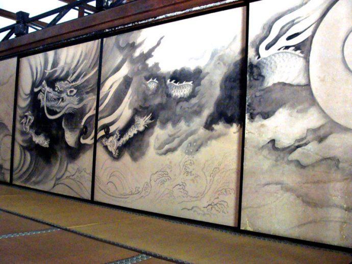 Fusumas no Templo de Ryôan-Ji