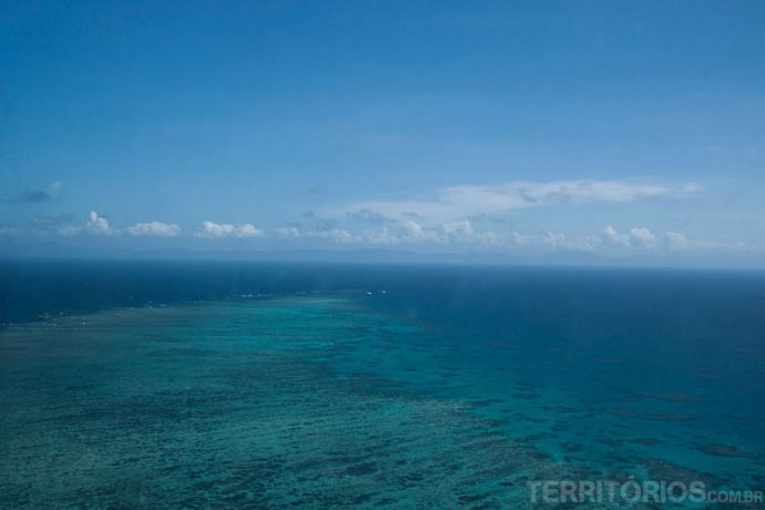 Corais vistos de cima