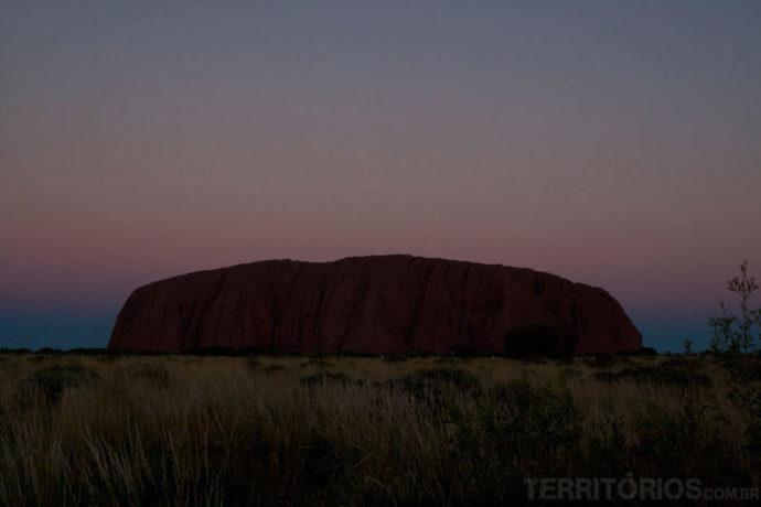Pôr-do-sol em Uluru