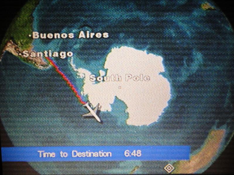 13 horas de voo pelo Polo Sul