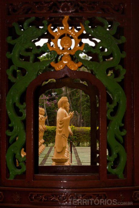 Detalhe no Templo Budista