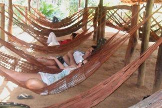 Relaxando na Praia Municipal