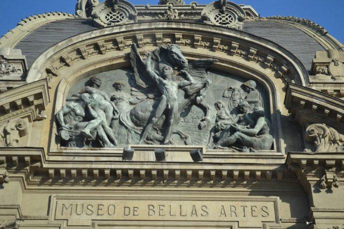 Detalhe da fachada do museu