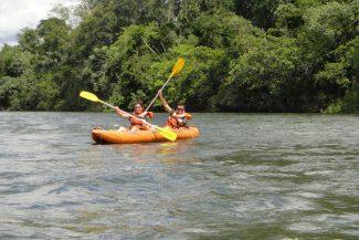 Canoagem no rio Iguaçu