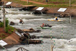 Esportistas treinando em Itaipu
