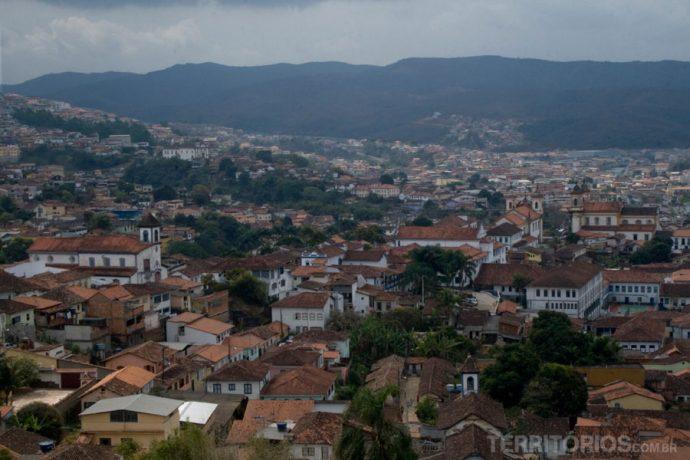 Vista da cidade do alto da torre