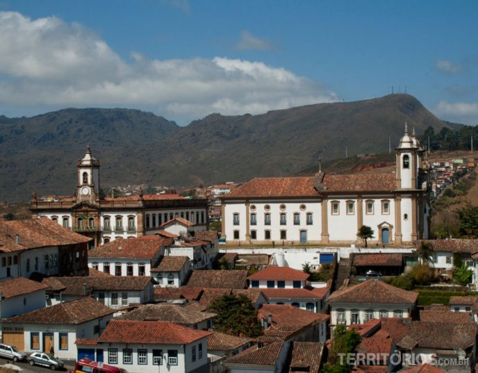 Vista da cidade na rua Pe. Rolim