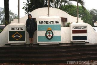No marco das 3 fronteiras do lado argentino