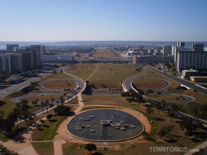Cidade planejada vista da Torre de TV