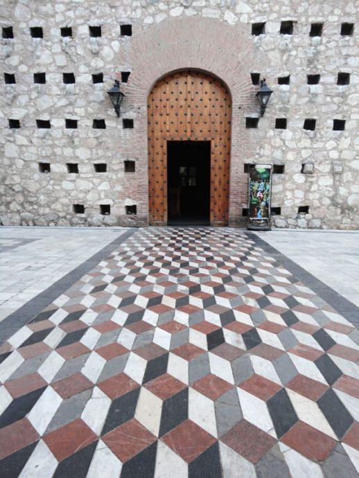 Detalhe da fachada da Iglesiade la Compañía de Jesus