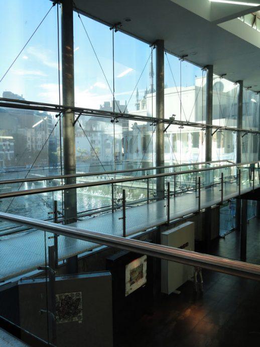 Vista do Buen Pastor de dentroda área destinada à galeria