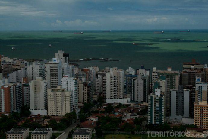 Vista para as praias de Vila Velha