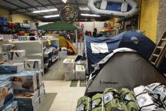 Andar para camping e pesca no Fape