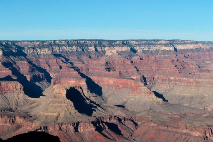 A história geológica confere diferentes tons ao Grand Canyon