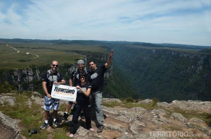 Blogueiros no canyon Fortaleza