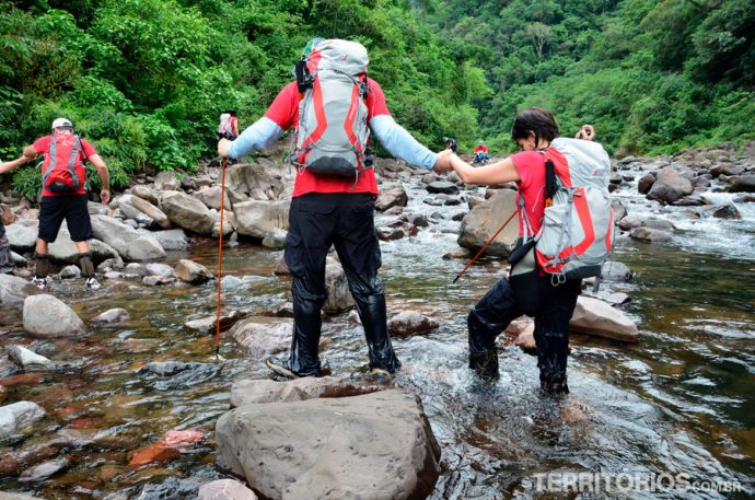 Cruzando o rio