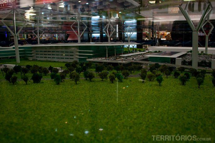 Novo terminal terá vista para as colinas e ampla área verde