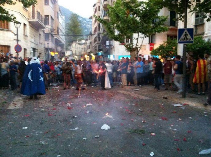 Festa nas ruas de Mallorca