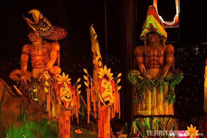 Alegorias indígenas do Garantido