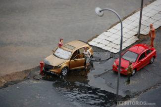 Nem o Mini Mundo está livre de acidentes