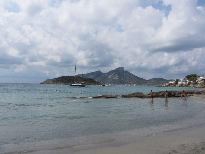 Praia do sudoeste de Maiorca