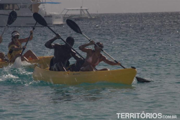 Canoagem no Open Water Barbados