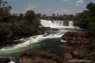 Cachoeira da Velha vista do outro lado, depois da trilha