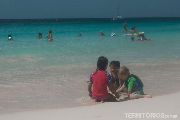 Praia boa para crianças